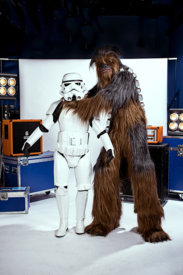 Chewy and Storm Trooper